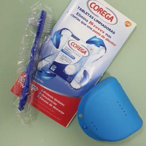 kit de limpieza de férulas dentales y prótesis dentales
